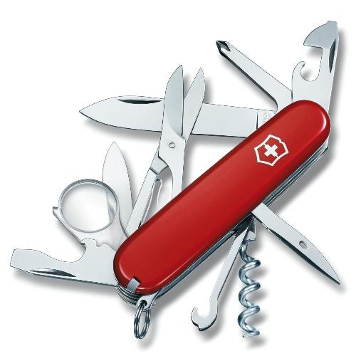 1.6703 Нож перочинный Victorinox Delemont Explorer 91 мм 16 функций красный
