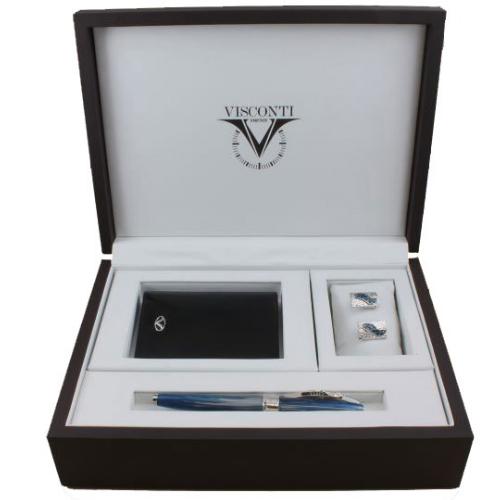 VS-005-664-18F Подарочный набор Visconti Salvador Dali Blue (перьевая ручка, запонки, бумажник)