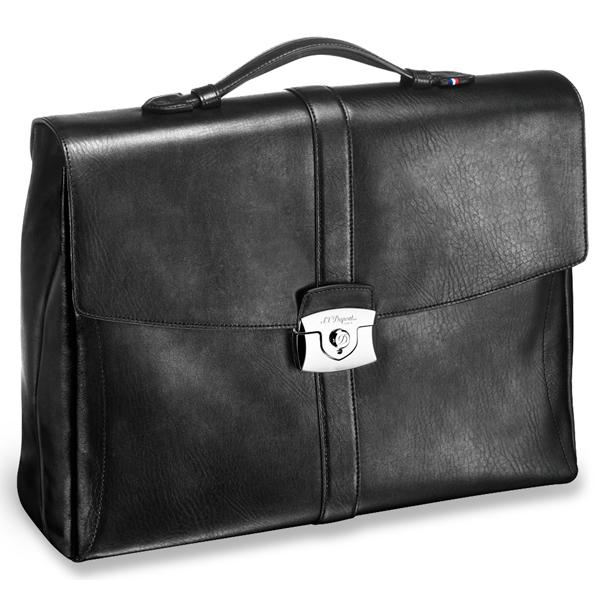 Черный портфель Soft Diamond с 1 отделением 181201