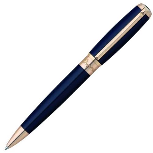 Шариковая ручка Line D, синий лак и розовое золото 417679