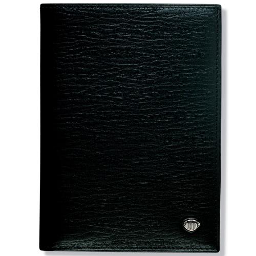 Вертикальное мужское портмоне Aurora Torino Black 9 х 12,6 см AU-P017/11