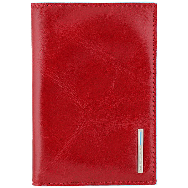 Обложка для паспорта Piquadro Blue Square Red AS300B2/R