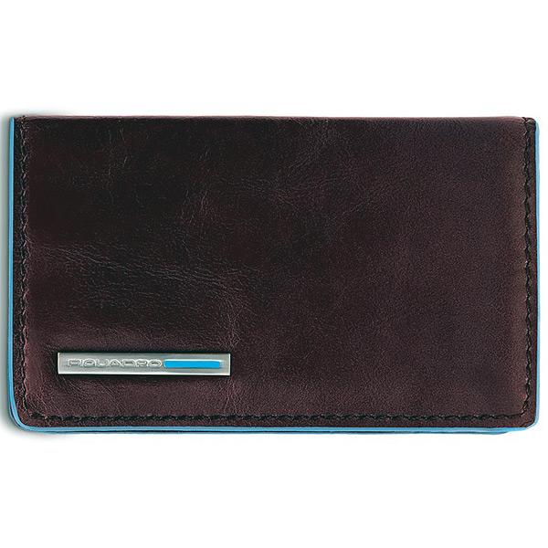 PP1263B2/MO Чехол для кредитных/визитных карт Piquadro Blue Square Mahogany