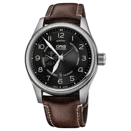 Мужские наручные швейцарские часы Oris Big Crown pointer day 745-7688-40-64LS