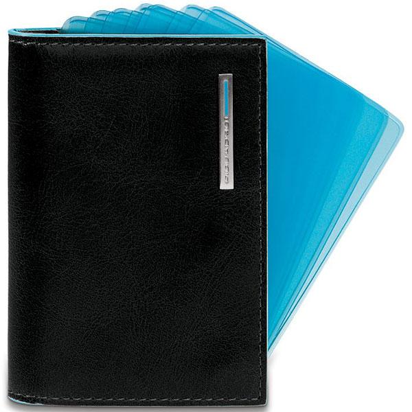 Веерный чехол для кредитных карт Blue Square Black PP1661B2/N