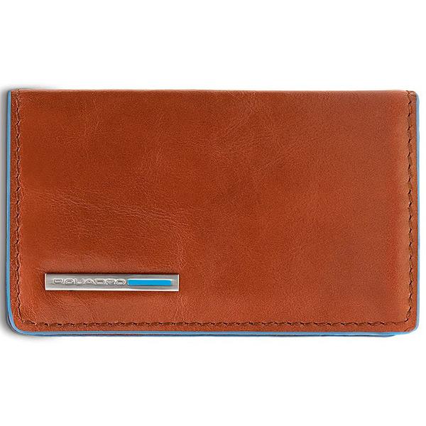 PP1263B2/AR Чехол для кредитных/визитных карт Piquadro Blue Square Orange