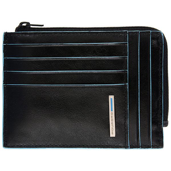 PU1243B2/N Чехол для кредитных карт Piquadro Blue Square Black