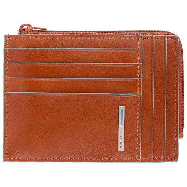 PU1243B2/AR Чехол для кредитных карт Piquadro Blue Square Orange
