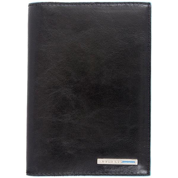 Обложка для документов Piquadro Blue Square Black AS429B2/N