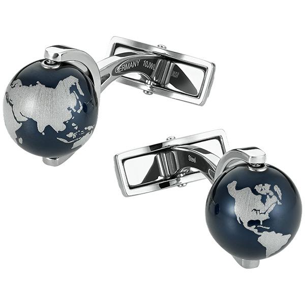 Запонки Heritage Spirit Globe Blue 112998