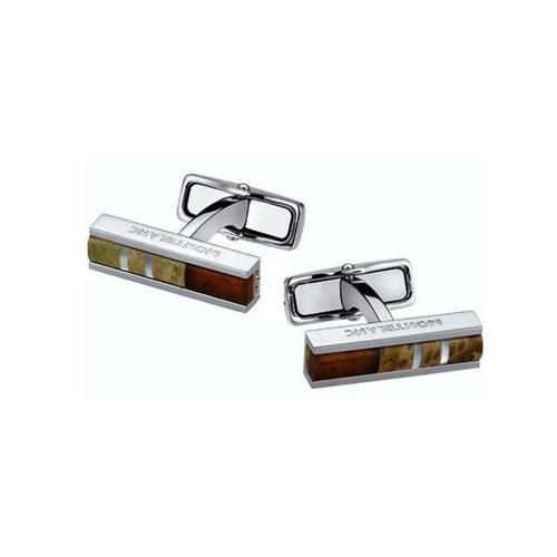 Запонки Creative Lines Stainless Steel Wood Amber 111333