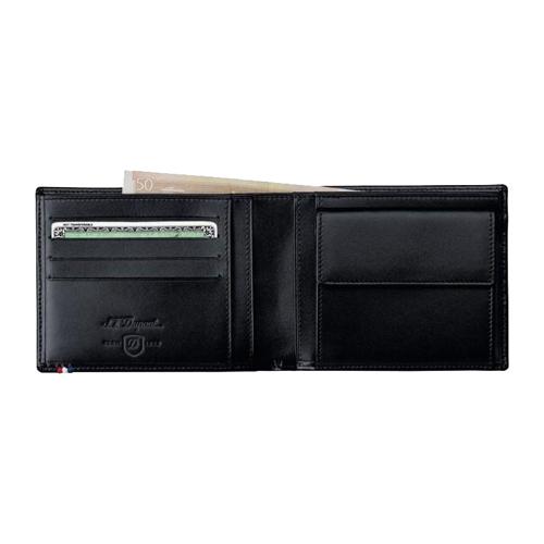 Портмоне / Бумажник на 4 кредитные карты Line D Black 180007