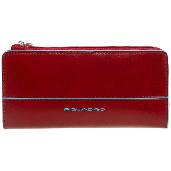 Женское портмоне Piquadro Blue Square Red AS458B2/R