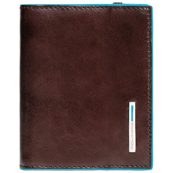 PP1395B2/MO Чехол для кредитных/визитных карт Piquadro Blue Square Mahogany