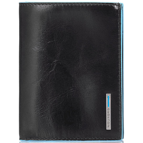 PU1129B2/N Бумажник Piquadro Blue Square Black
