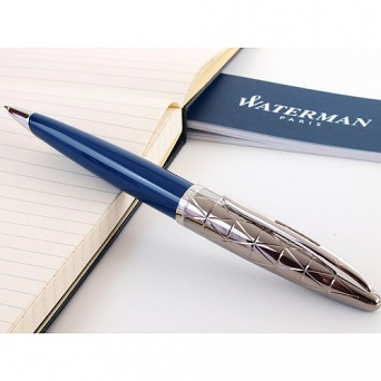 1904571 Шариковая ручка Waterman (Ватерман) Carene Contemporary Blue Obsession and Gunmetal ST