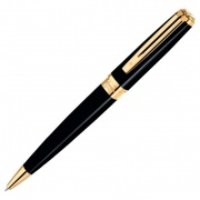 S0636960 Шариковая ручка Waterman (Ватерман) Exception Slim Black Lacquer GT