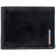 PU1240B2/N Портмоне Piquadro Blue Square Black