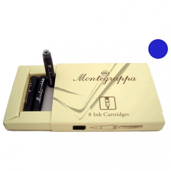IA00C0EB Синие картриджи Montegrappa Ink Cartridges Refill Blue (8 шт.)